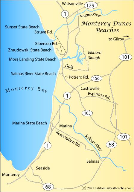 Monterey dunes beaches directions for Best beach in monterey ca