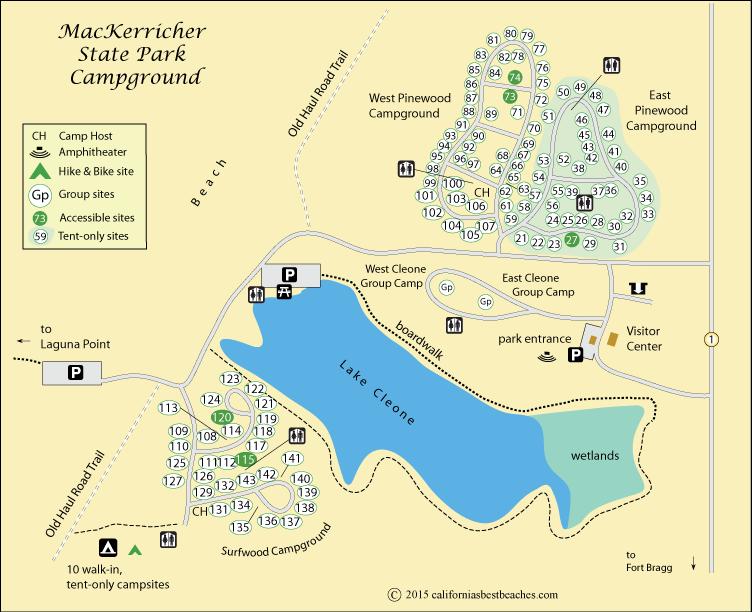 Mackerricher State Park Camping
