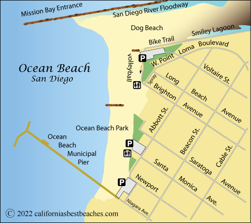 ocean beach ca map gallery