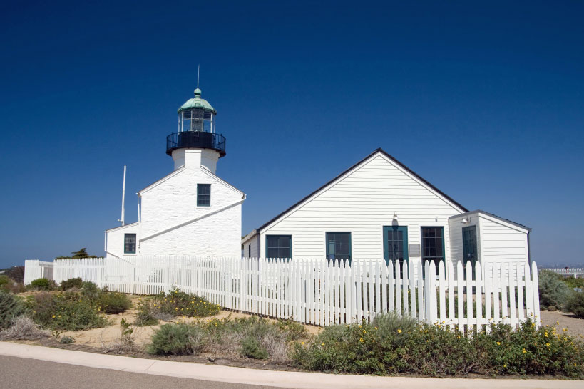 Lighthouse at Cabrillo National Monument, San Diego, California