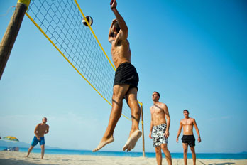 Beach volleyball game, San Diego County, California