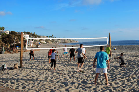 volleyball at Laguna Beach, CA