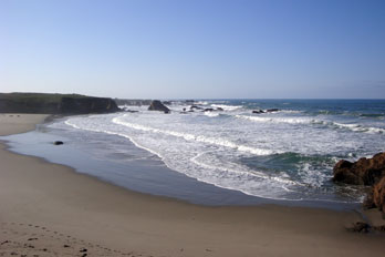 beach in McKerricher State Park, Mendocino County, CA