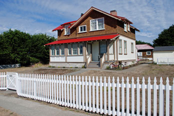 Rental house at Point Cabrillo Light Station Historic Park, Mendocino County, CA