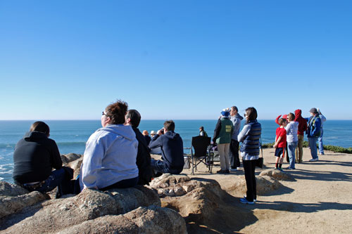 Whale watchers, Sonoma Coast State Park, CA