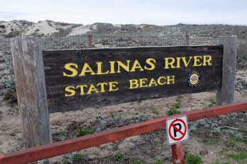 Salinas River State Beach Sign, CA