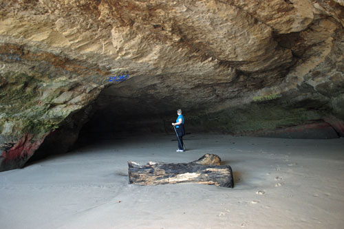 cave at San Gregorio Beach, San Mateo County, CA