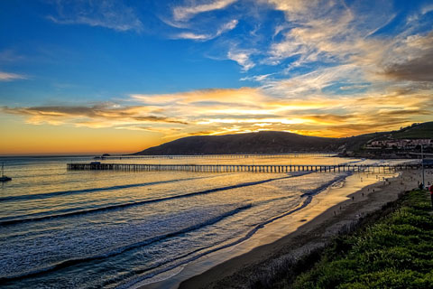 Avila Beach and Pier, San Luis Obispo County, CA